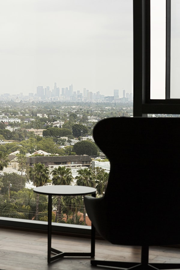 Chair overlooking West Hollywood