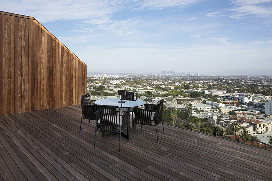 Terrace overlooking West Hollywood with Outdoor Table