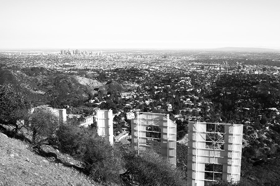 Hollywood Sign and City Skyline